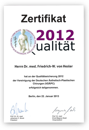 Zertifikat VDÄPC